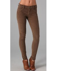 James Jeans | Brown Twiggy Corduroy Leggings | Lyst