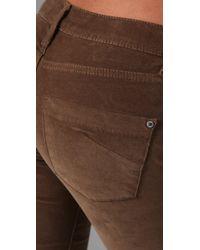 James Jeans | Brown Twiggy Corduroy Leggings | Lyst