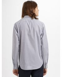 Theory | Blue Striped Sportshirt for Men | Lyst