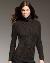 Theyskens' Theory | Brown Chunky Turtleneck Sweater | Lyst