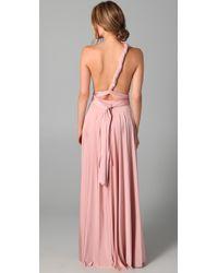Twobirds | Pink Long Convertible Dress | Lyst