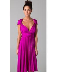 Twobirds - Purple Tea Length Convertible Dress - Lyst
