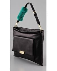 3.1 Phillip Lim | Lynus Portfolio Zip Bag in Black/green | Lyst