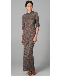 A.L.C. | Brown Long Sweater-dress | Lyst