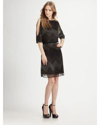 Alice + Olivia - Black Catalina Cut-out Dress - Lyst
