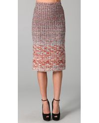 Alice + Olivia | Purple Niall Tweed Pencil Skirt | Lyst