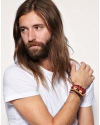 ASOS Collection - Multicolor Asos Apache Bracelet Pack for Men - Lyst