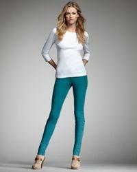 Joe's Jeans | Green Chelsea Skinny Pants, Emerald | Lyst