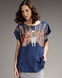 Marc By Marc Jacobs - Blue Plumage Miss Marc Tee - Lyst