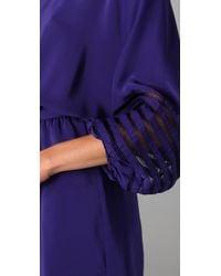 Parker - Blue Embroidered Stitch Dress - Lyst