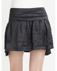 Theory | Black Wimin Ruffled Mini Skirt | Lyst