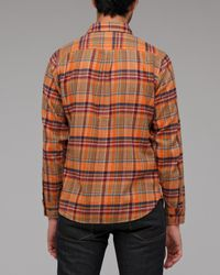 Obey | Orange Cedar Creek Plaid Flannel for Men | Lyst