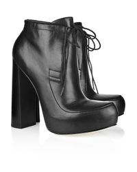 Alexander Wang | Black Constance Leather Platform Ankle Boots | Lyst