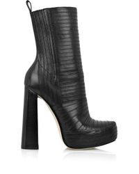 Alexander Wang | Black Tasha Bandage Leather Boots | Lyst