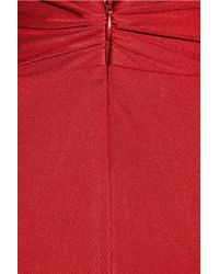 Issa - Red Silk-jersey Halterneck Dress - Lyst