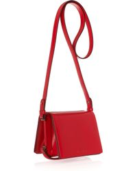 Jil Sander | Red Leather Shoulder Bag | Lyst