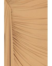 Michael Kors | Beige Stretch Crepe-jersey Gown | Lyst