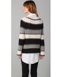 Alice + Olivia - Black Kamala Wool And Alpaca-blend Poncho - Lyst