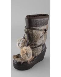 Ash | Brown Zubroska Apres Ski Fur Boots | Lyst