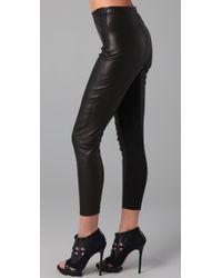 David Lerner - Black Leather Leggings - Lyst