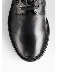 DIESEL | Black Miliboot Leather Dress Boots for Men | Lyst