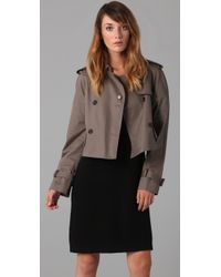 Marc By Marc Jacobs | Gray Penn Trench Cropped Jacket | Lyst
