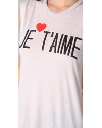 Wildfox - White Je Taime Dylan Tee - Lyst