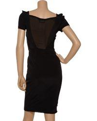 Zac Posen | Black Stretch-silk Dress | Lyst