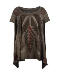 AllSaints | Brown Tribal Top | Lyst