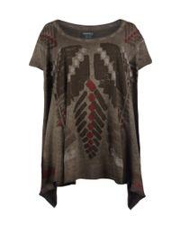 AllSaints - Brown Tribal Top - Lyst