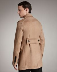 Burberry Prorsum | Brown Double-breasted Car Coat for Men | Lyst