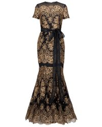 Carolina Herrera | Black Floral Jacquard Sleeveless Dress | Lyst