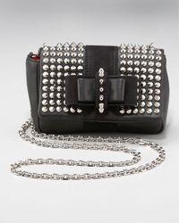Christian Louboutin   Black Sweet Charity Spike-studded Bag   Lyst