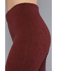 Free People - Purple The Cable Knit Legging in Burgundy - Lyst