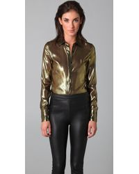 Kevork Kiledjian | Metallic Long Sleeve Tailored Shirt | Lyst