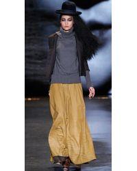 L.A.M.B. | Brown A Line Maxi Skirt | Lyst