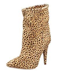 Loeffler Randall | Multicolor Cheetah-printed Calf Hair Bootie | Lyst