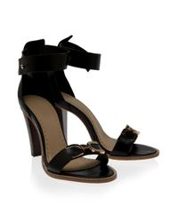 Raoul | Black Ankle Strap High Heel Sandals | Lyst