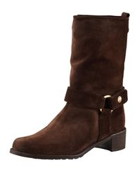 Stuart Weitzman | Brown Harness Mid-calf Boot | Lyst