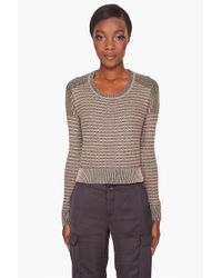 Theory | Brown Adelfa Cropped Sweater | Lyst