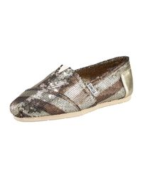 TOMS | Metallic Gurley Sequined Slip-on | Lyst
