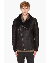 Yigal Azrouël | Black Shearling Coat for Men | Lyst