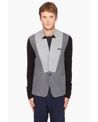 Yigal Azrouël | Gray Brushed Blazer for Men | Lyst