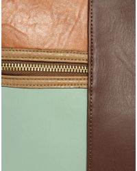 ASOS Collection - Brown Asos Colour Block Bucket Bag - Lyst