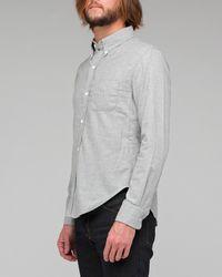 Band of Outsiders | Gray Grey Melange Plain Flannel Shirt for Men | Lyst
