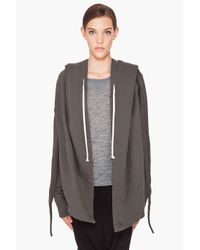 DRKSHDW by Rick Owens | Gray Tie Hoodie for Men | Lyst