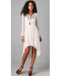 Free People | White The Eyelet Enchantment Dress | Lyst