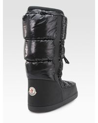 Moncler | Black St. Anton Quilted Nylon Platform Boots | Lyst