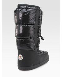 Moncler | Black St. Anton Quilted Nylon Platform Boots | Lyst