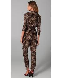 Rebecca Minkoff - Multicolor Siri Leopard Print Jumpsuit - Lyst